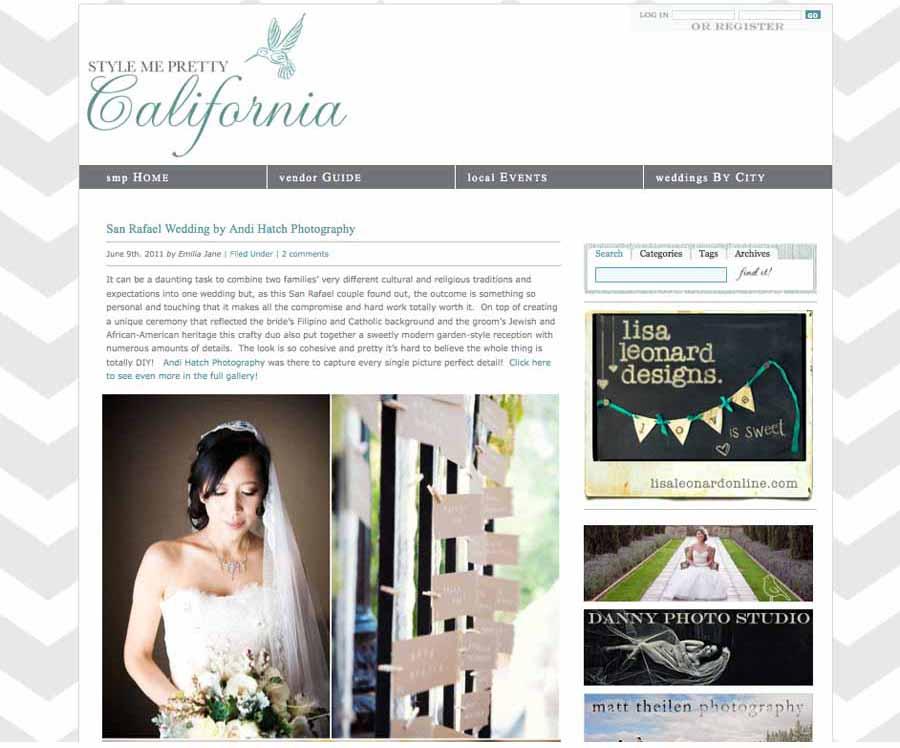 Style Me Pretty Marin Wedding