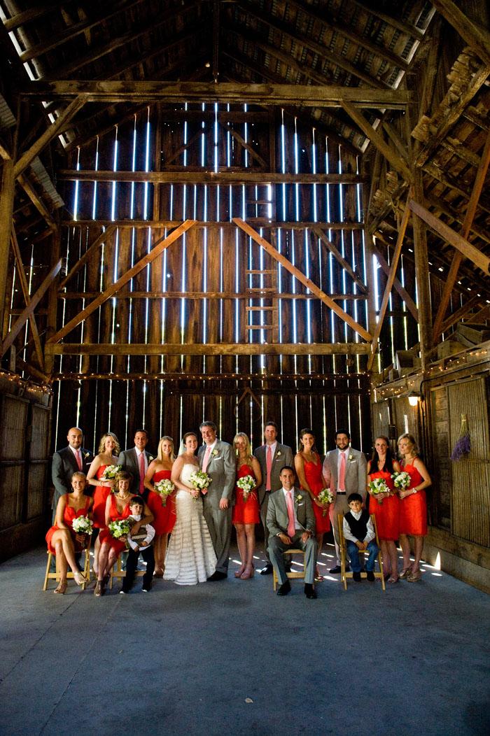 wedding party portraits modern barn healdsburg
