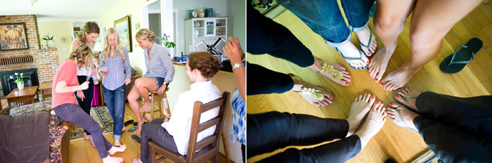 comparing pedicures at bridal cottage