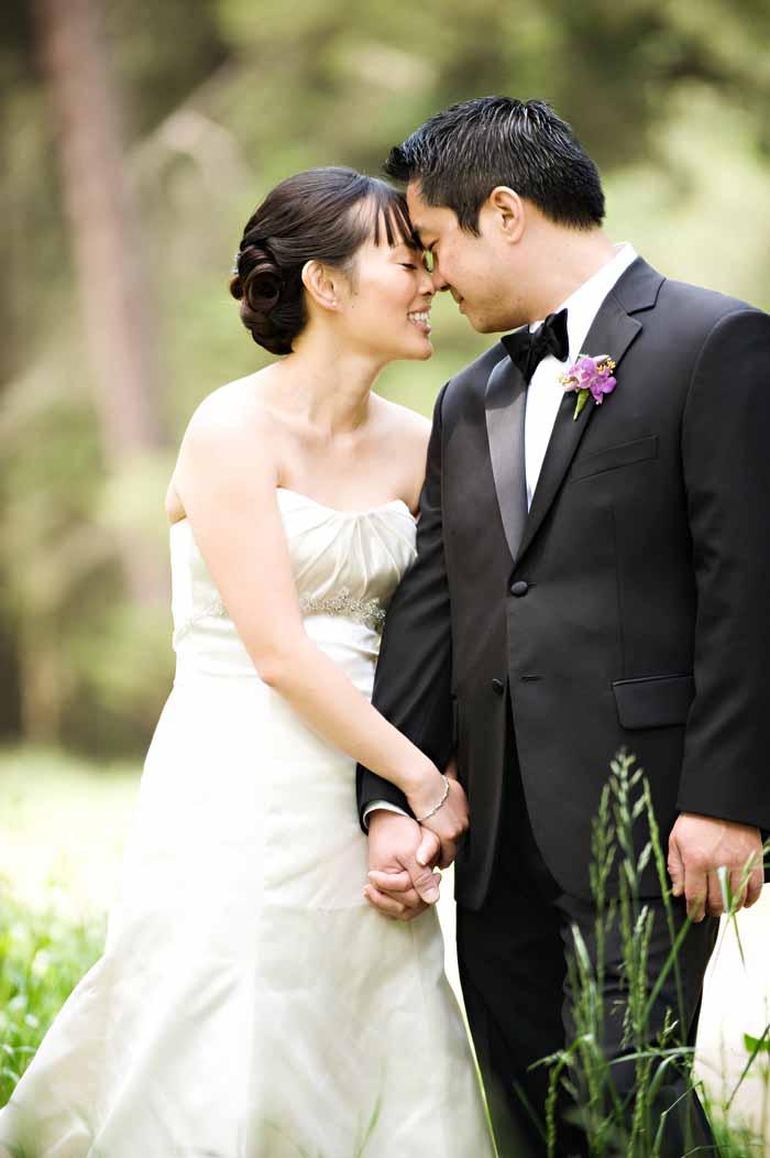 outdoor natural wedding portrait oakland joaquin miller