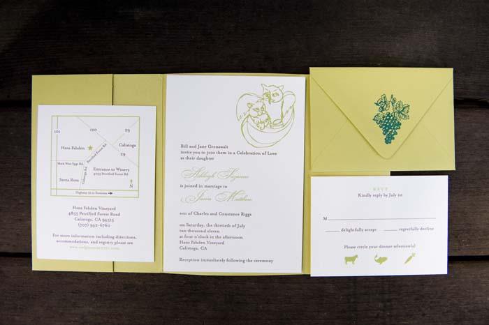 owl and pussycat wedding invitation