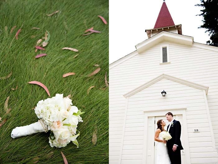 bouquet in natural grass at cavallo point