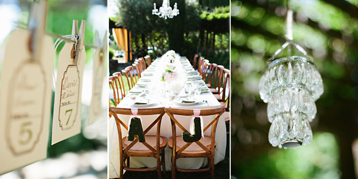 rustic wine country wedding dinner reception